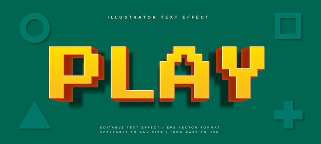 Pixel gaming playful text style font effect