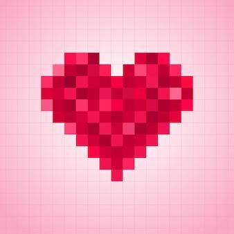 Иллюстрация сердца пикселей