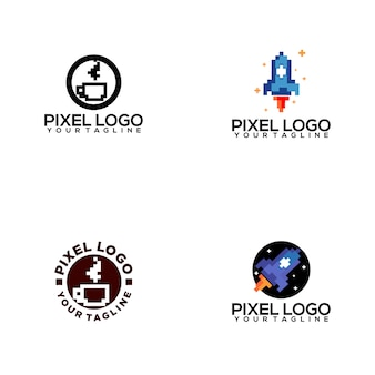 Pixel logo collection