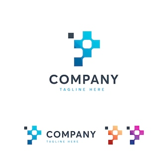 Pixel logoテンプレートの文字p
