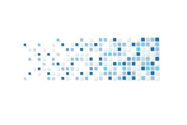 ピクセルモザイクピクセル減衰イラスト落下ピクセル抽象的な背景