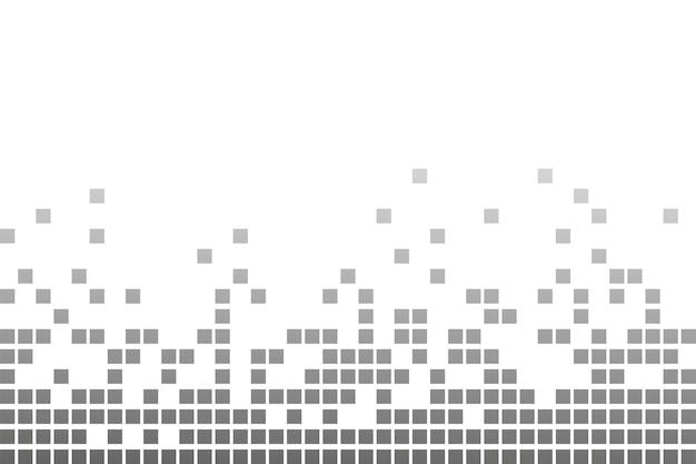 Пиксельная мозаика. иллюстрация распада пикселей. падающие пиксели. абстрактный фон.