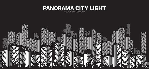 Pixel panorama город ночной фон.