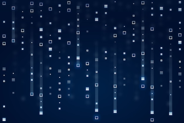 Pixel rain abstract background