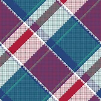 픽셀 원활한 패턴 블루 격자 무늬