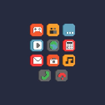 Pixelスマートフォンアイコンセット