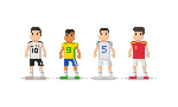 Pixel soccer player