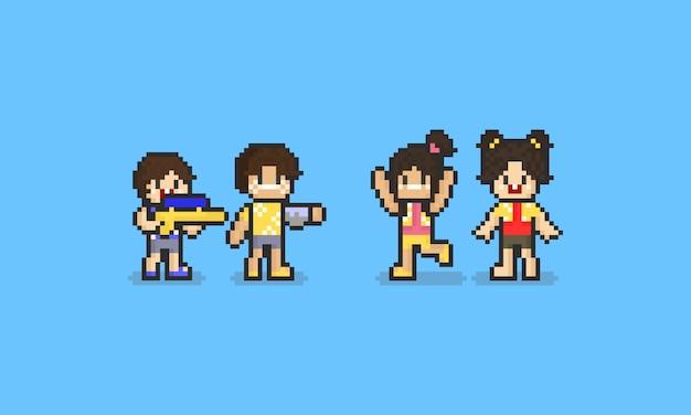Pixel songkran character