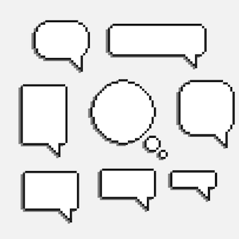 Pixel speech bubble