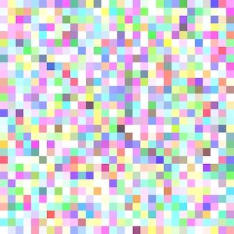Пиксельный квадратный мозаичный фон - геометрический векторный графический дизайн из цветных квадратов
