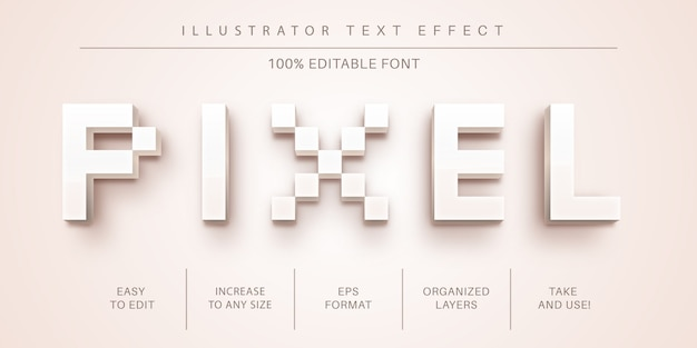 Стиль текста пикселей, эффект шрифта