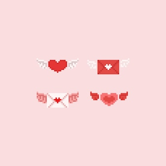 Pixel valentine elements