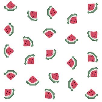 Pixel watermelon pattern