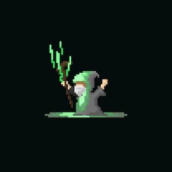 Pixel wizard using bolt magic