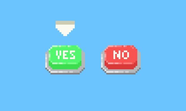 픽셀 예 또는 아니오 버튼.