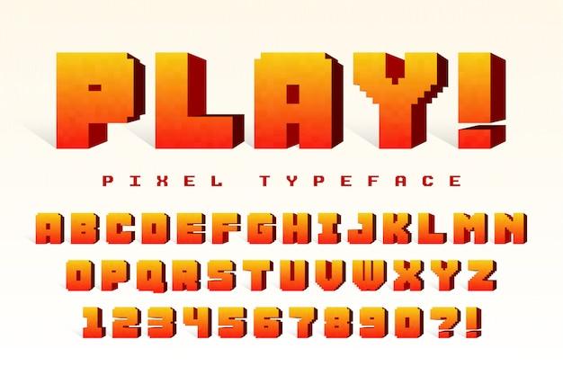 Pixel векторный дизайн шрифта