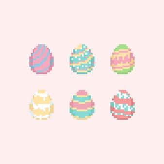 Набор пасхальных яиц pixel