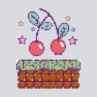Pixelated 체리 비디오 게임 아이템