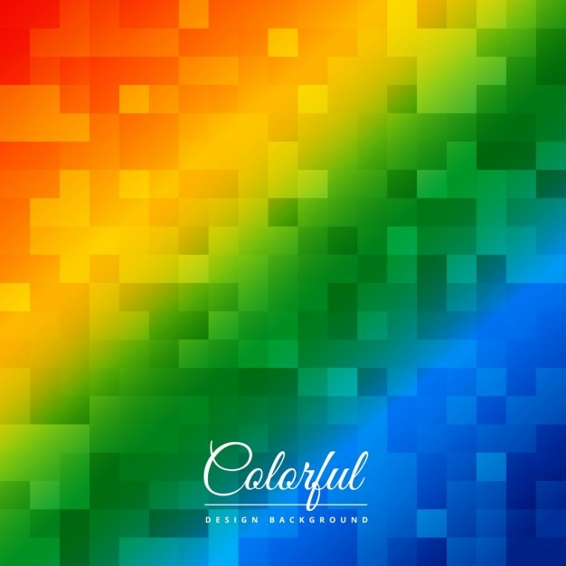 Pixelated colorful background