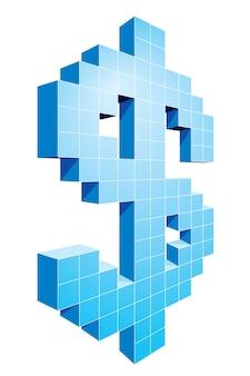 Пиксельный знак доллара