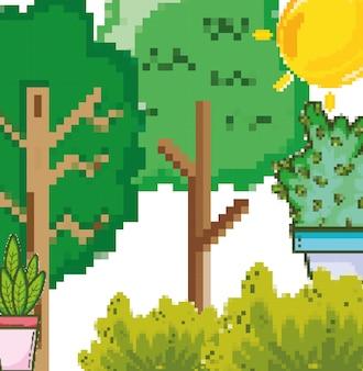 Пиксельный лес