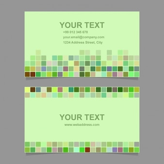 Pixelated green card
