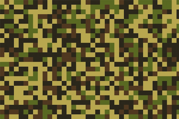 Pixelated military camouflage pattern texture