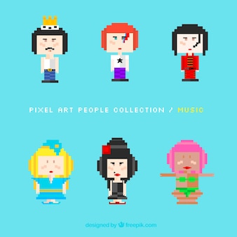Pixelated  music character pack
