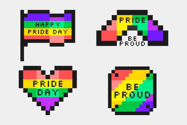 Пиксельные этикетки гордости