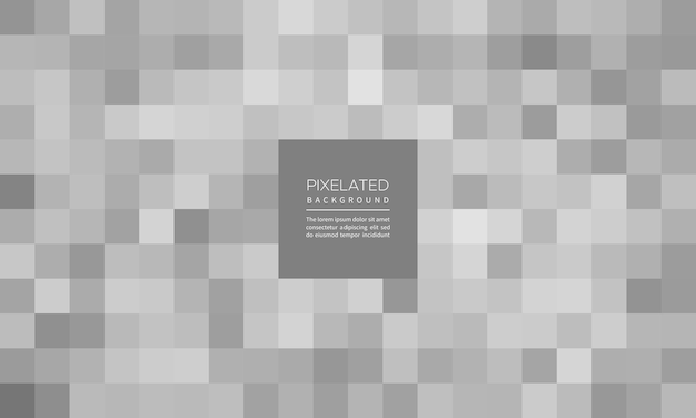 ピクセル化された銀色の幾何学的なぼかしの背景