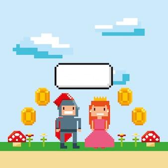 ピクセル化ビデオゲームアイコン