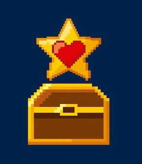 Иконки с пиксельной видеоигрой