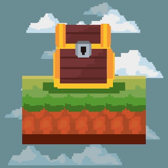 Pixelated and videogame icon