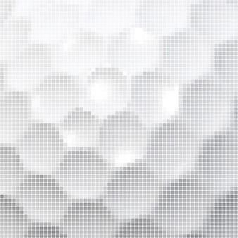 Pixelated white hexagons