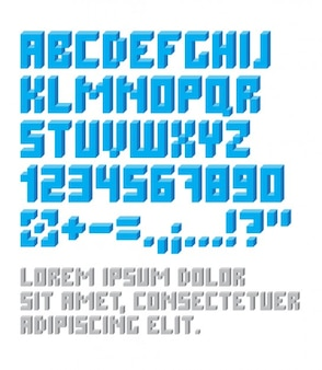 Урожай pixelated типографика