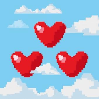 Pixelated и значок видеоигры