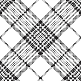 Пиксели черно-белые клетчатые бесшовные