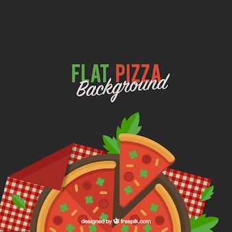 Sfondo della pizza in disegno piatto