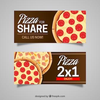 Banner pizza di condividere