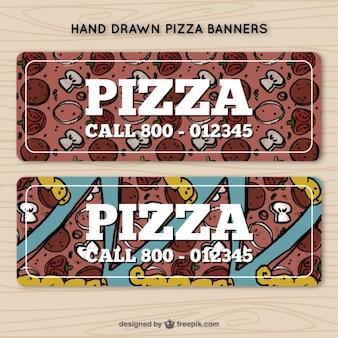 電話番号とピザのバナー