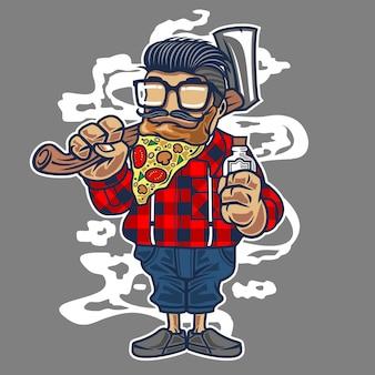 Pizza beard