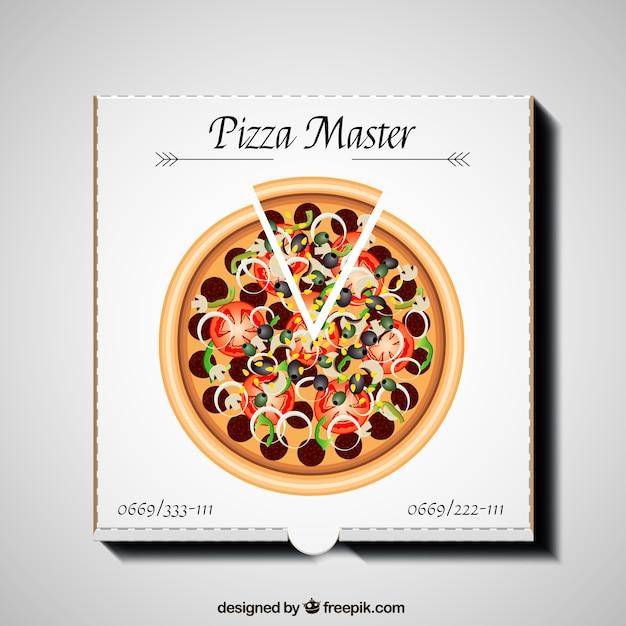 Pizza box Premium Vector
