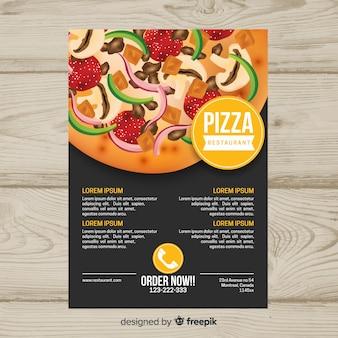Pizza brochure template