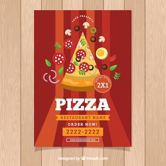 Брошюра для пиццы с ингредиентами