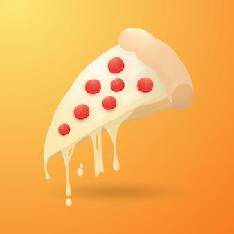 피자 만화 일러스트 디자인 서식 파일