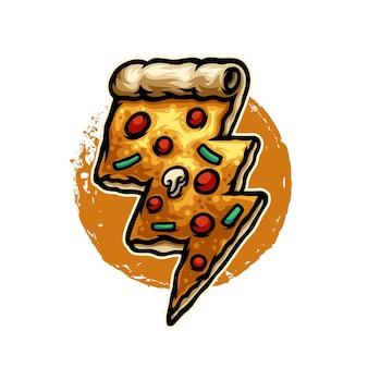 Дизайн логотипа персонажа пиццы