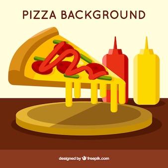 Sfondo di pizza e formaggio