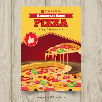 Pizza and cheese brochure