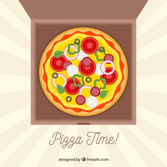 피자 배달 배경
