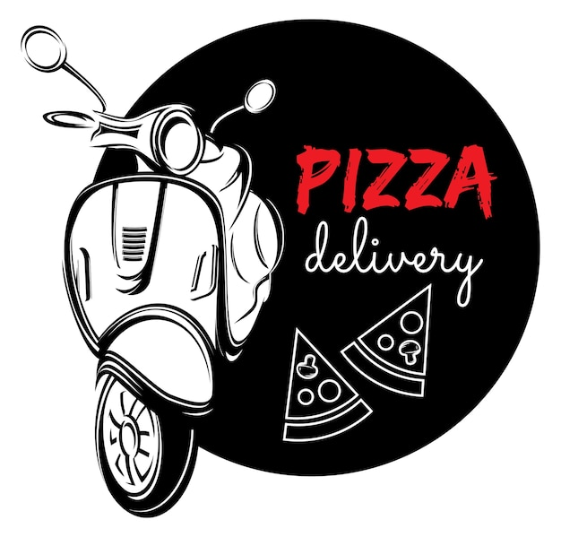 Pizza delivery label